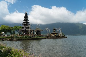 Hindu temple on the island of Bali. Pura Ulun Danu Bratan.