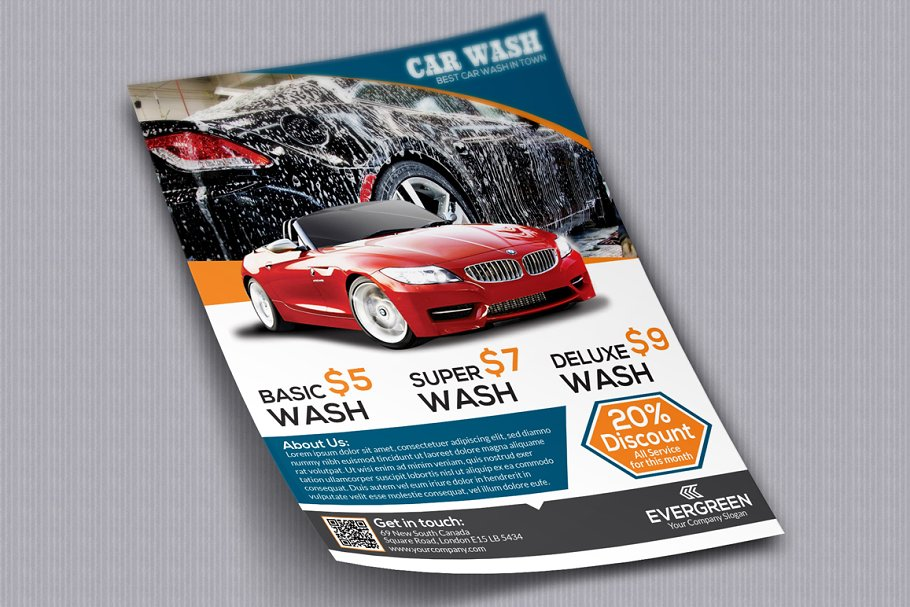 Car Wash Flyer Flyer Templates Creative Market