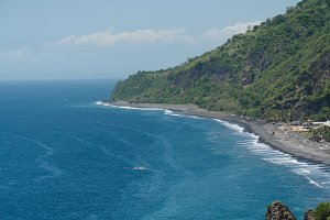 Seascape Cliffs, sea and waves at Bali, Indonesia