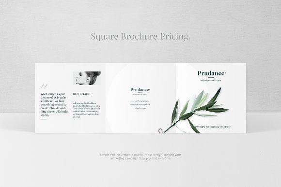 photography pricing brochure brochure templates creative market