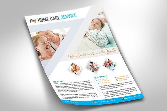 Home Care Flyer Flyer Templates Creative Market - Home care brochure template