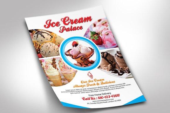 ice cream flyer flyer templates creative market