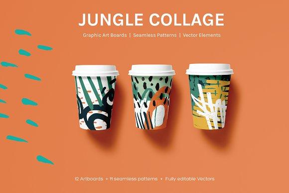 Jungle Collage Artboards Pattern