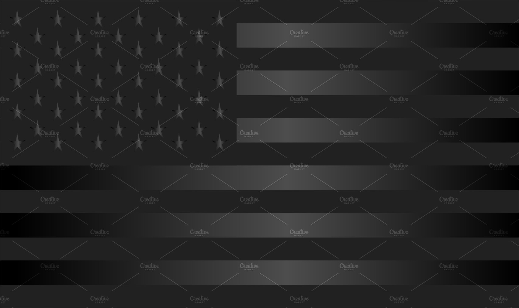 Usa Flag American Flag Vector Black Graphics Creative