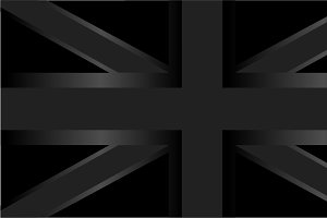 British flag png vector black