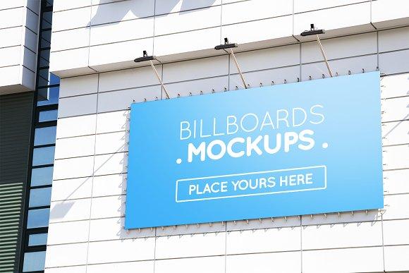15 Billboards Mockups On Building V3