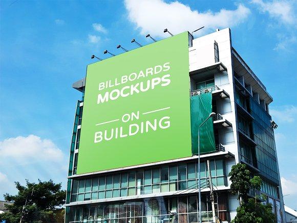 15 Billboards Mockups On Building V2