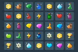 Basic Game Elements Icons