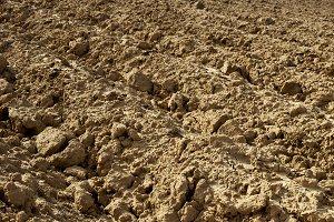 Soil for agriculture shoveling