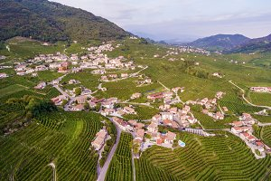 Italian village from above.