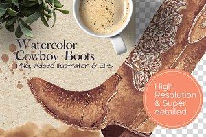 Super Detailed Cowboy Boots