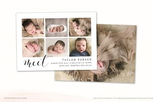 Birth Announcement Template CB101