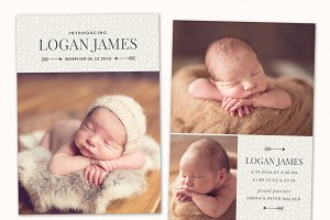 Birth Announcement Template CB077