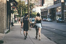 Urban Fashion Couple Tattoo Street  by Chester Wade in Beauty & Fashion
