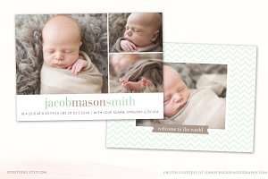 Birth Announcement Template CB051