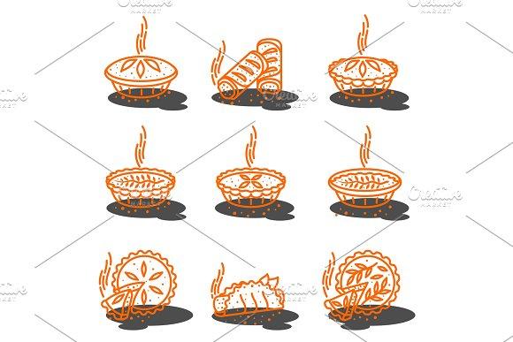 Meat Pie Roll Quiche Illustration
