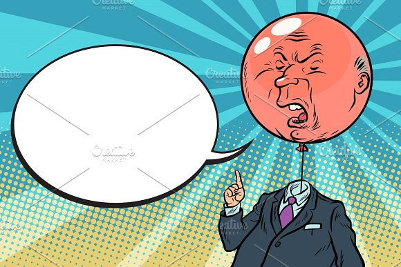 Angry Bloated Red Boss Bubble