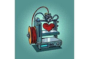 bioprinter prints love heart 3D printer manufacturing