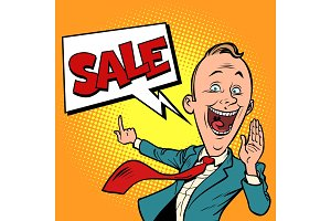 salesman businessman sale