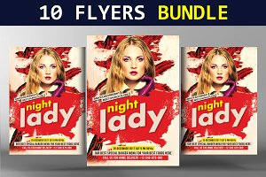 10 Party Flyers Bundle