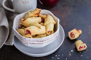 Rugelach (cookies) with jam
