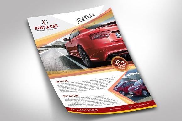 rent a car flyer flyer templates creative market