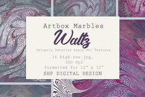 Art Textures:  Marbled Waltz Series