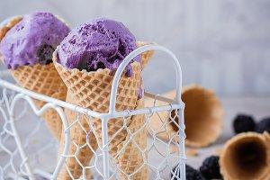 Purple Berry Ice Cream
