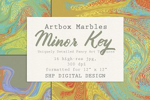 Art Textures: Marbled Minor Key
