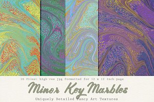 Art Textures: Marbled Minor Key