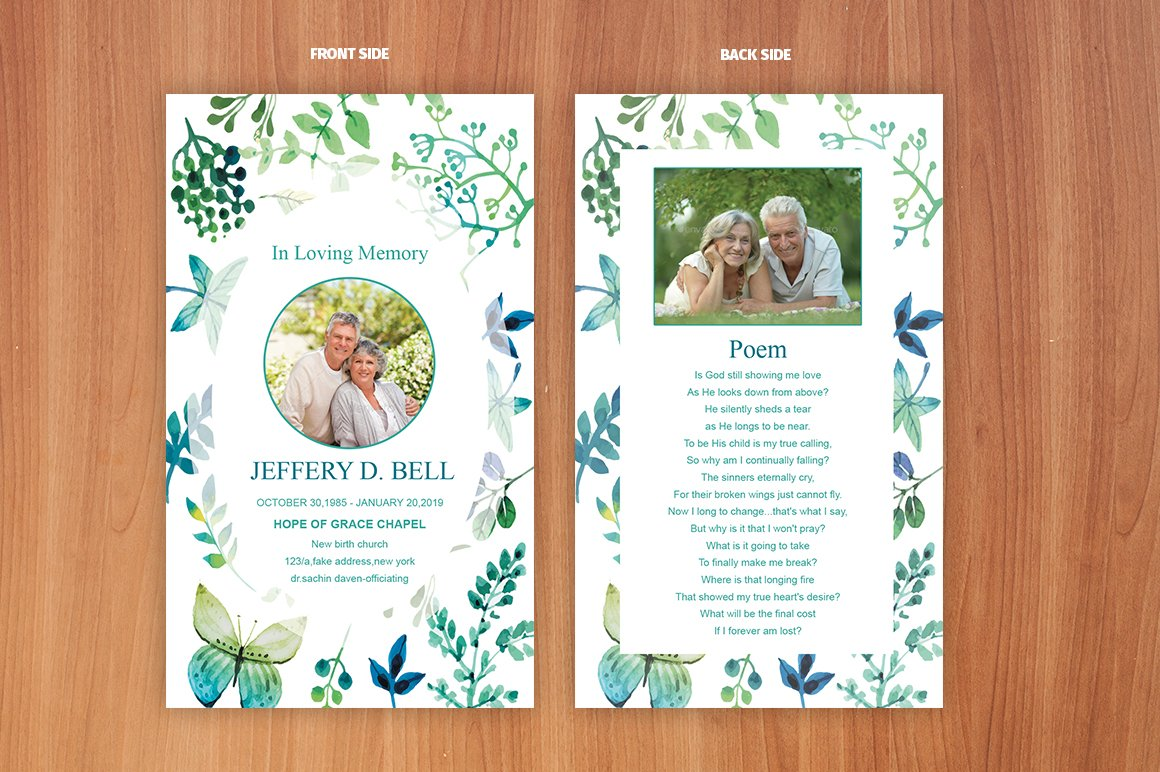Funeral Prayer Card Template Card Templates Creative Market - Prayer card template