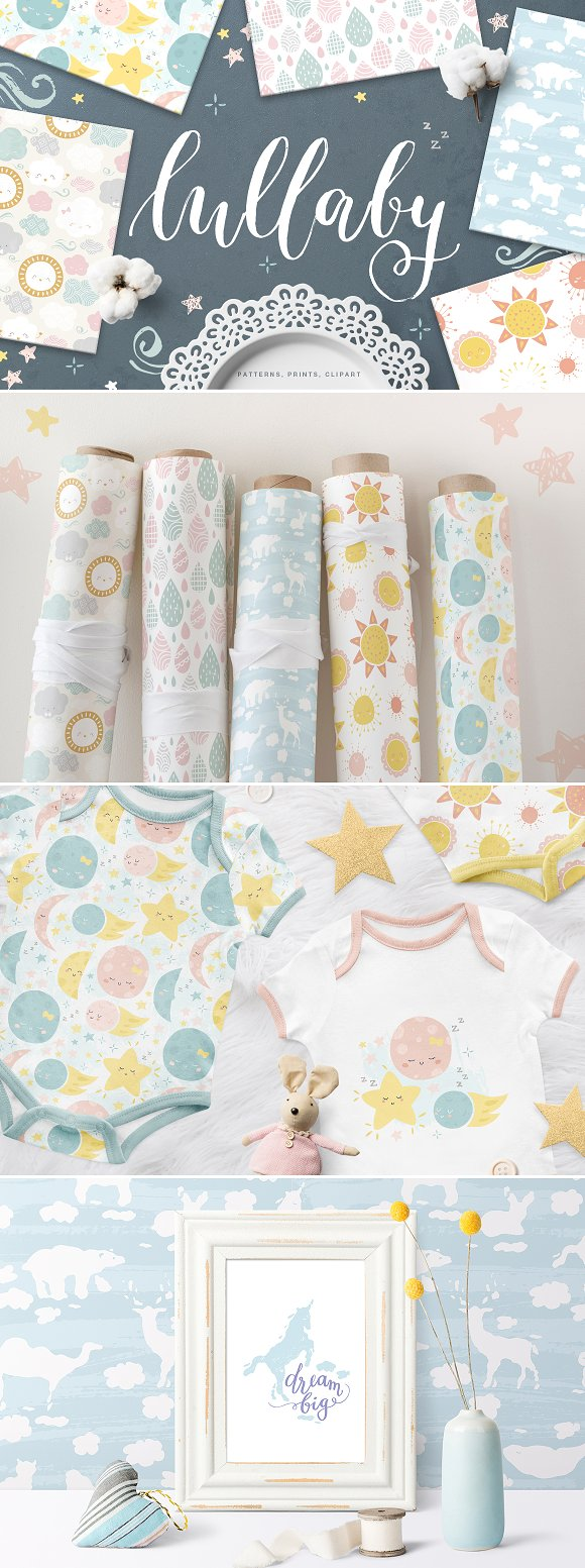 Cute Baby Patterns Prints Clipart