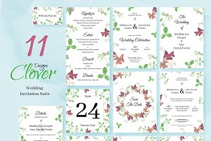 Clover. Wedding Invitation Package