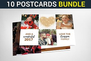 10 Christmas Cards Bundle