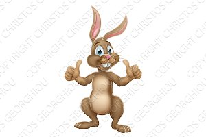 Easter Bunny Rabbit Character Giving Thumbs Up