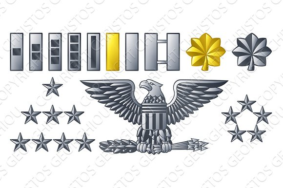 Army Military Officer Insignia Ranks