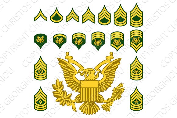 Military Army Enlisted Rank Insignia