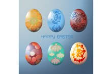 Easter egg with colorful pattern