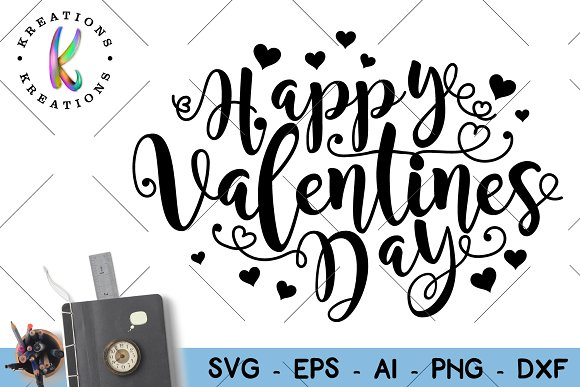 Happy Valentines Day Svg Cut File Illustrations Creative Market