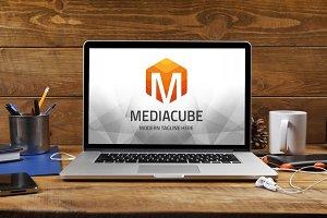 Letter M (Media Cube) Logo