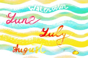 Watercolor June, July, August