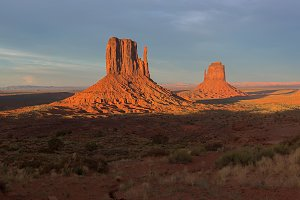 Monument Valley at Sunset Panorama