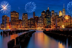 Fireworks New York City Manhattan