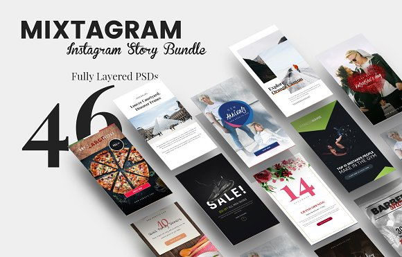 MIXTAGRAM - Instagram Story Bundle