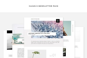 Clean E-newsletter Pack