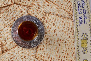 Matzo and wine for passover
