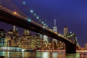 Panoramic view new york city manhatt