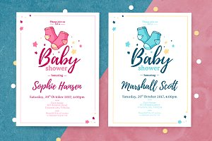 Boy&Girl - Baby Shower Invitation