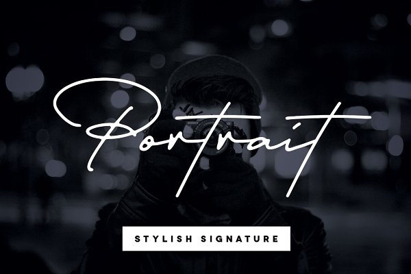 Portrait Signature Script - 6 Fonts