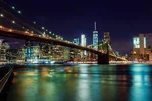 Brooklyn Bridge and Manhattan Skylin